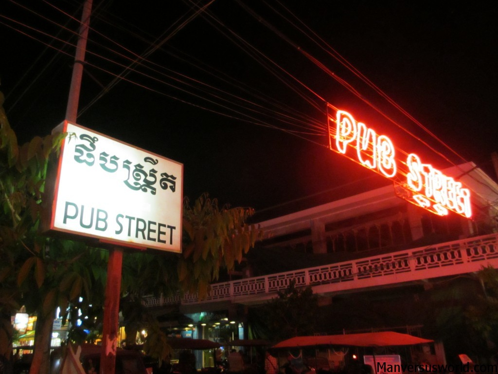 The most beautiful sign in the world? Maybe. Pub Street in Siem Reap.