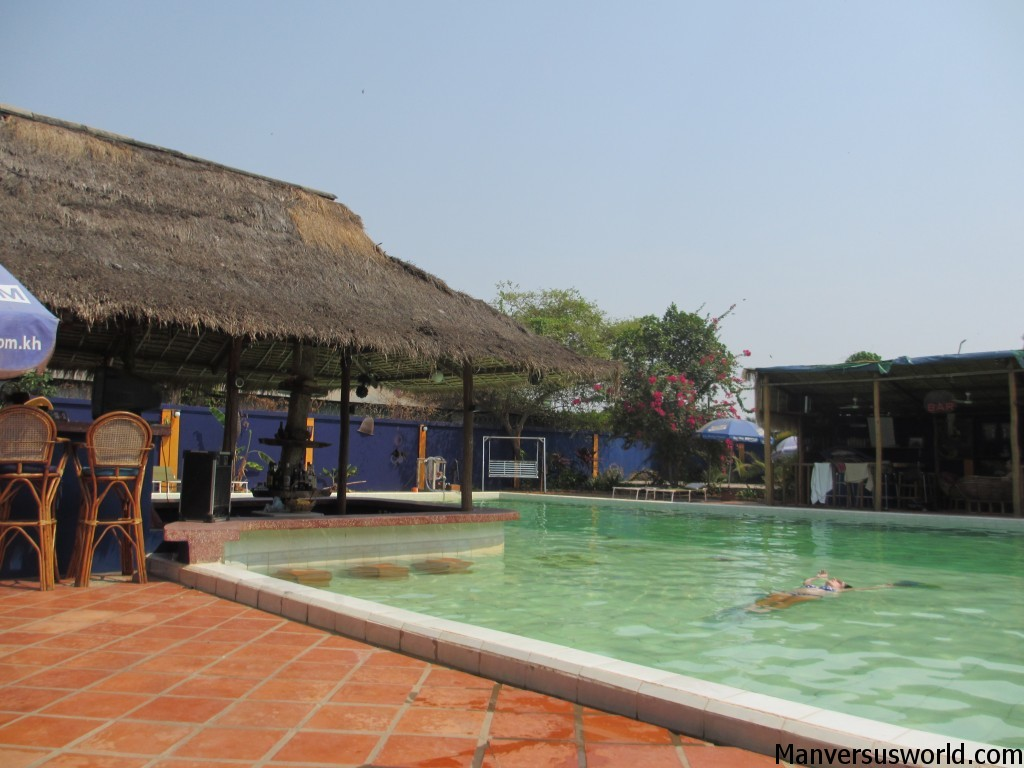 A public swimming pool in Siem Reap, Cambodia