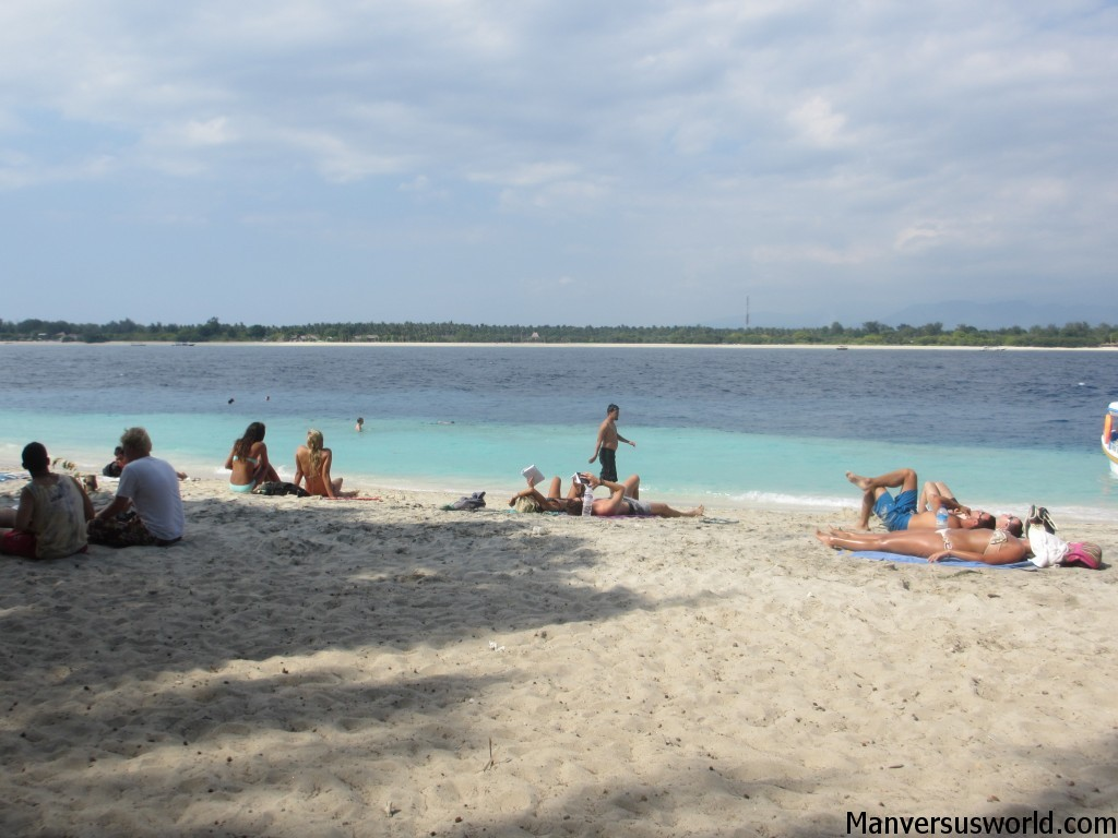 The main beach at Gili Trawangan, Indonesia