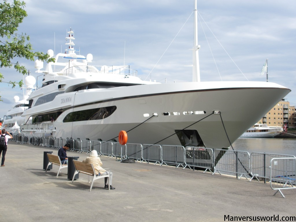 My super yacht (just kidding) parked up at Canary Wharf in London
