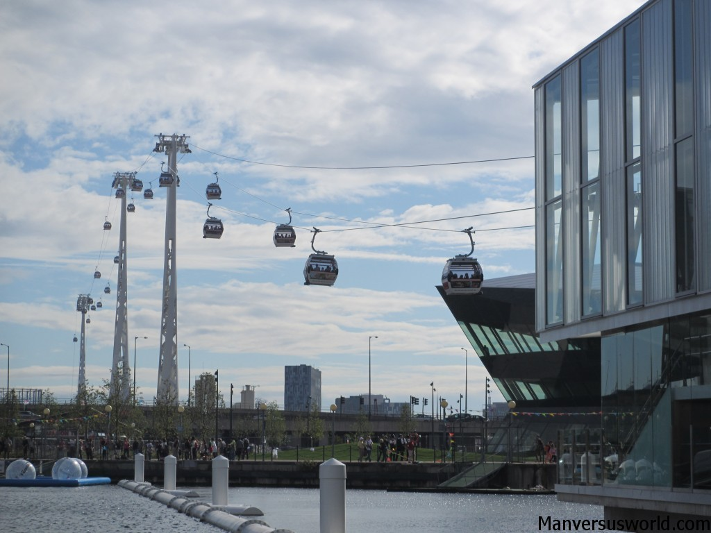 The Emirates Air Line - the London cable car