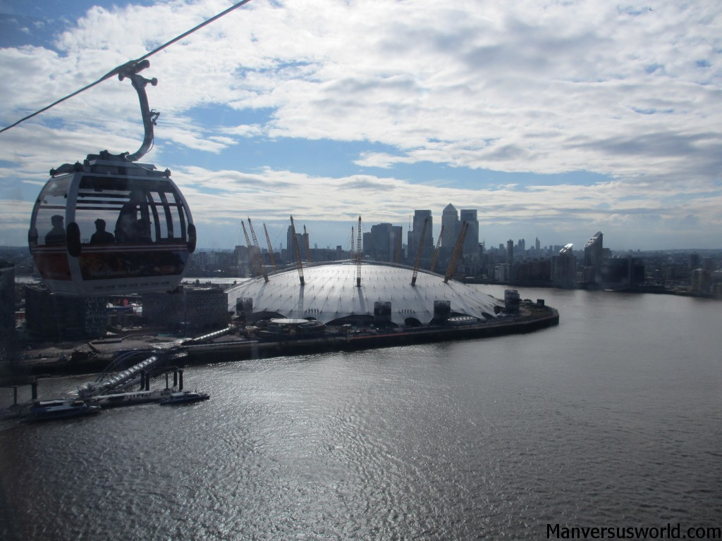 The view over London from the Emirates Air Line