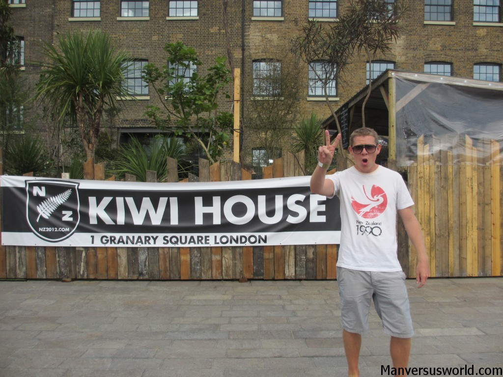 Celebrating two Olympic gold NZ medals at Kiwi House in London