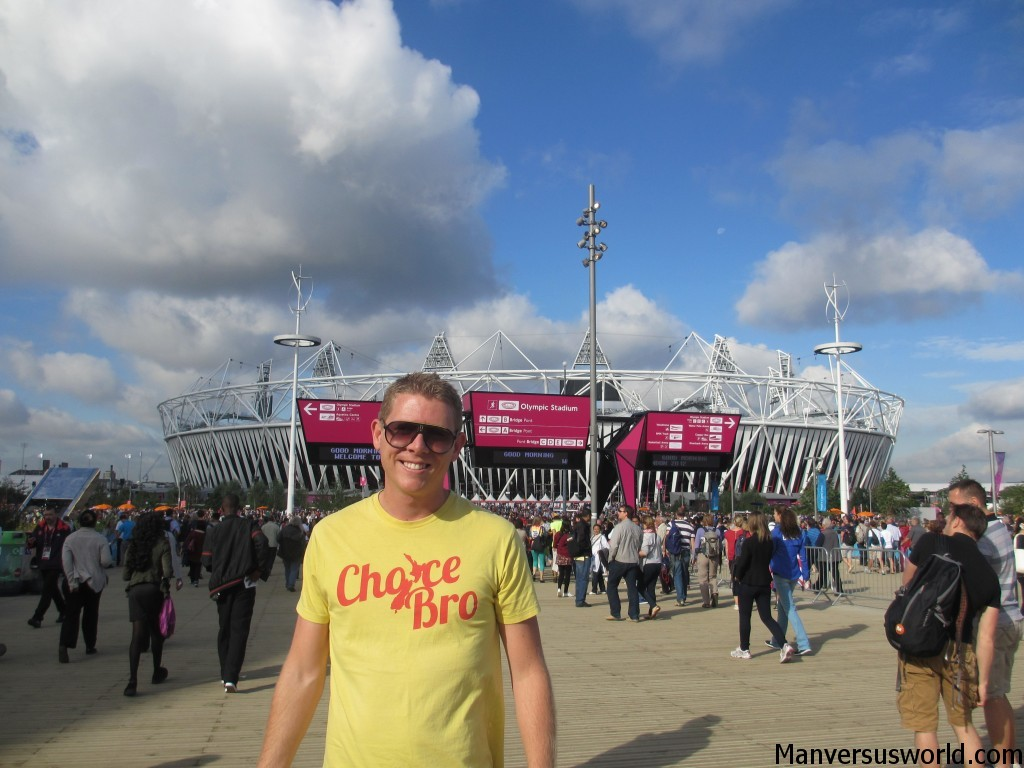 Me outside the London 2012 Olympic Stadium