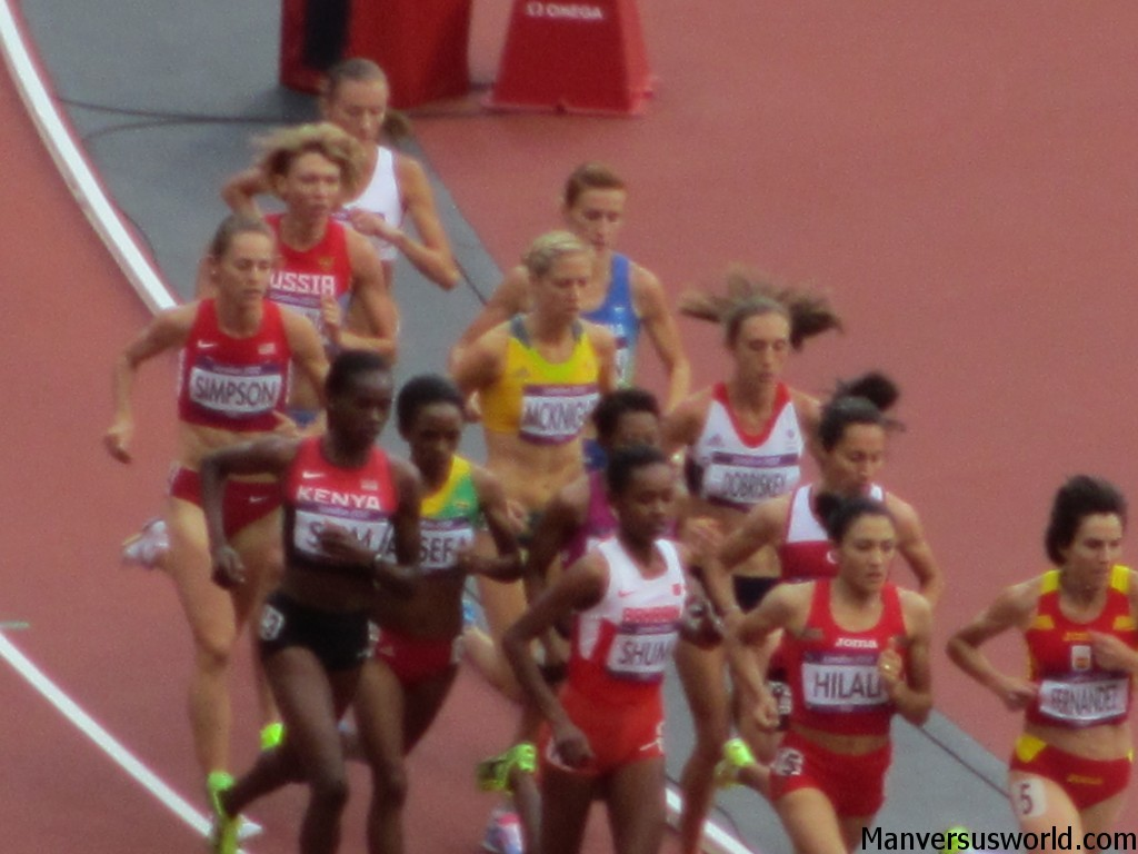 The 1500m women's heats at London 2012 Olympic Games