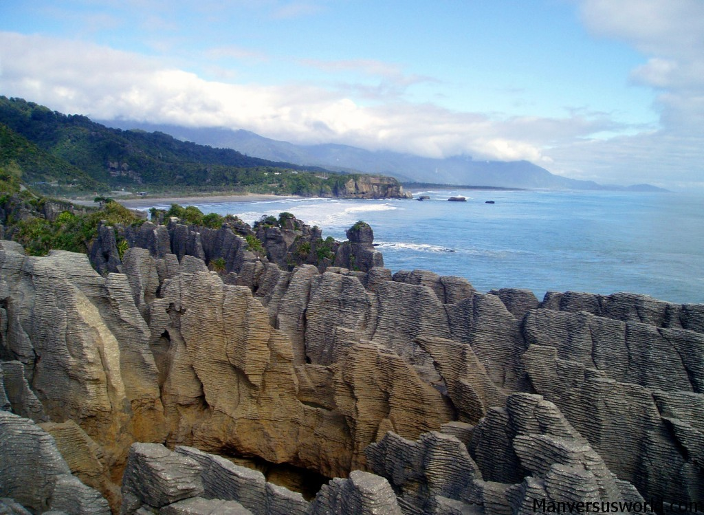 Punakaiki's pancake rocks on the West Coast of NZ
