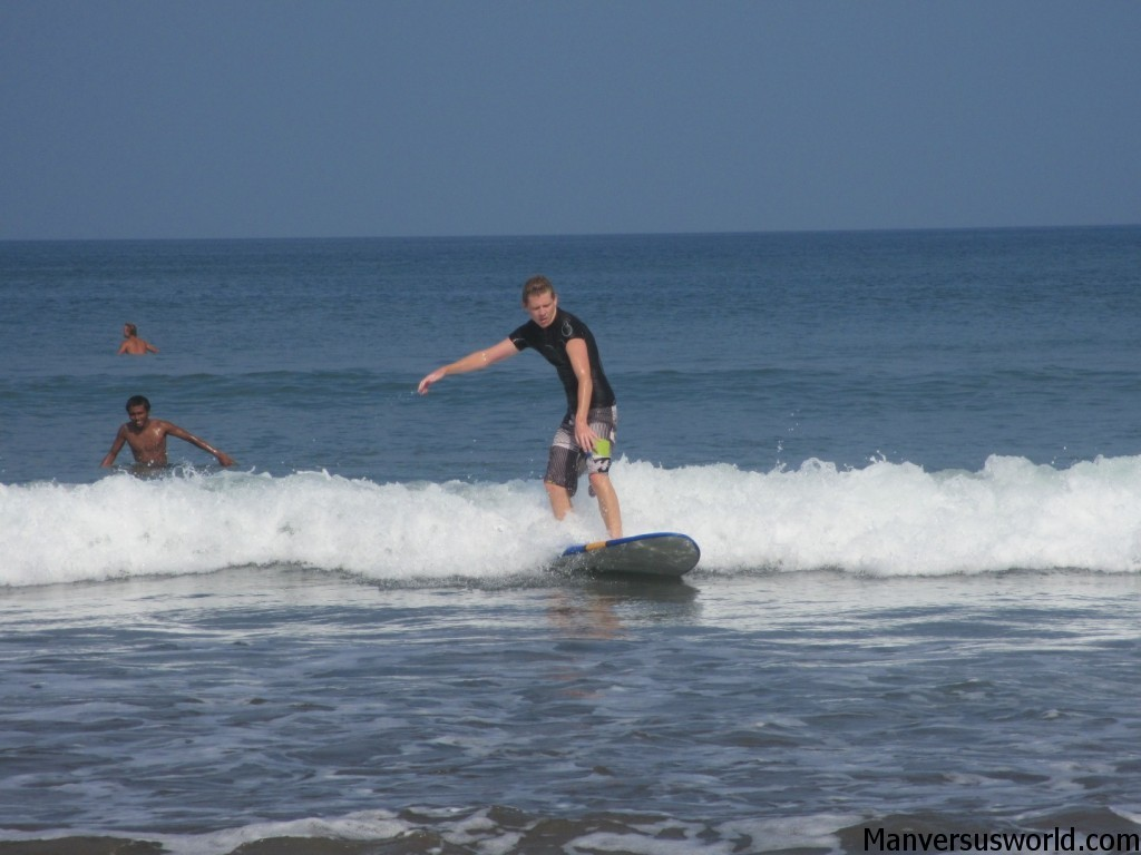 Standing up! Learning to surf in Bali