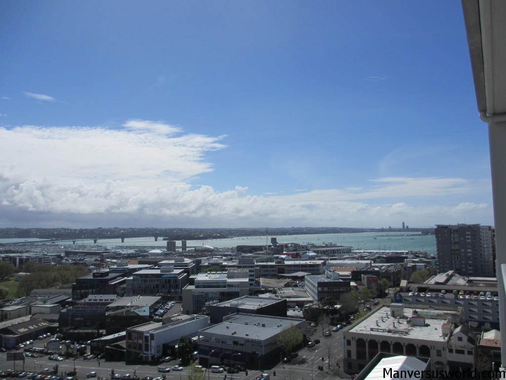 The Auckland Hrabour Brige and waterfront from my apartment