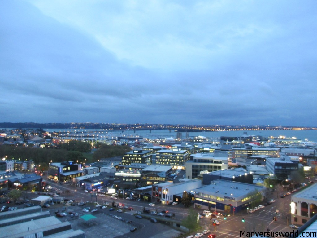 The view of Auckland's Hauraki Gulf from my apartment