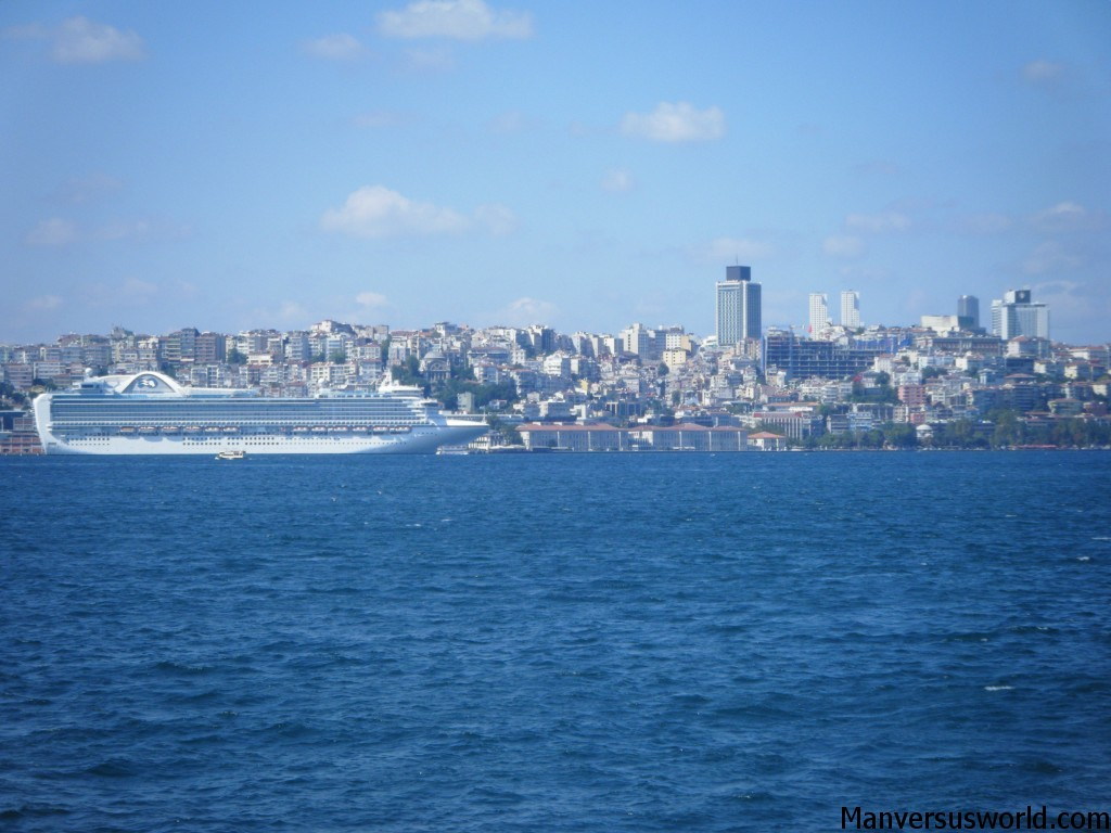 Istanbul by ferry: the view across the Bosphorus