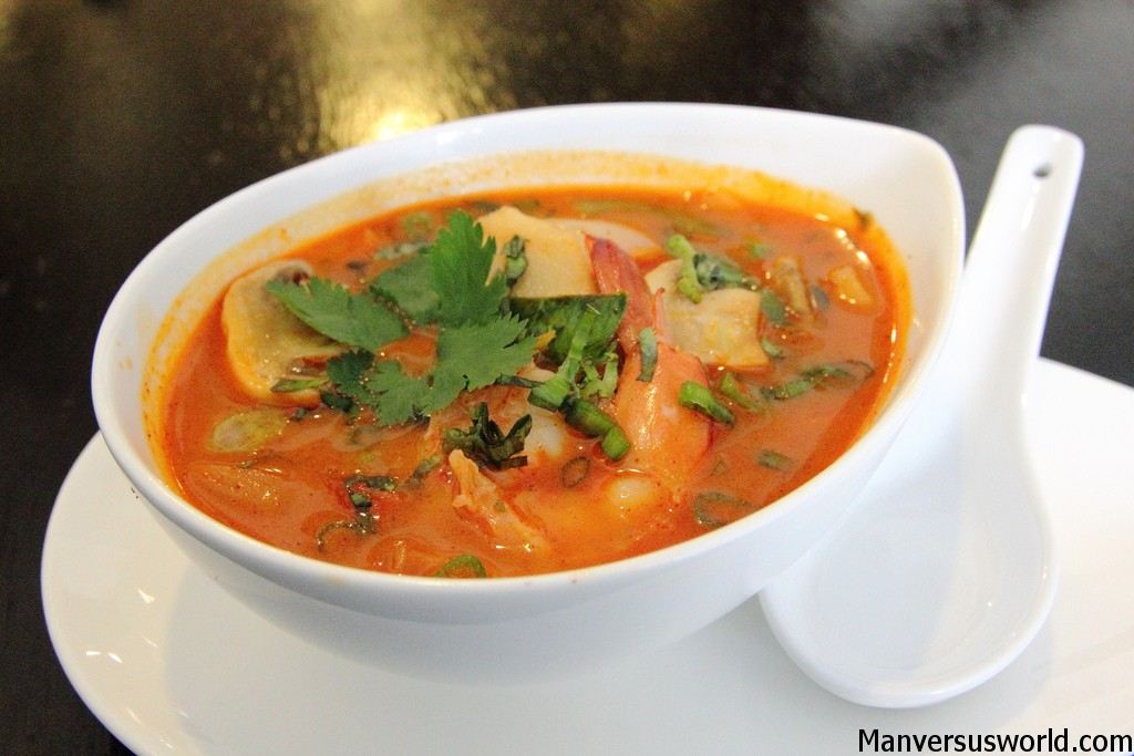 A delicious bowl of tom yum kung, Thailand