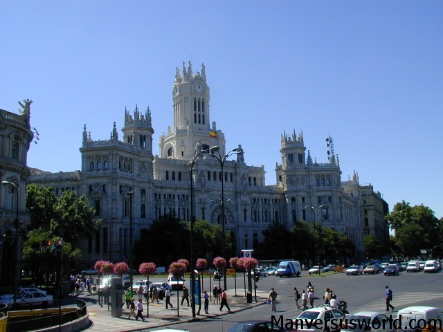 A sunny day in Madrid, Spain.