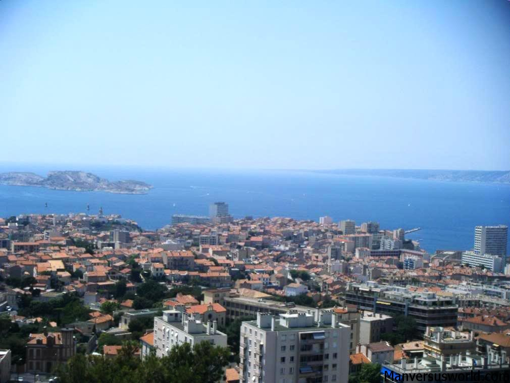 The view over Marseilles, France