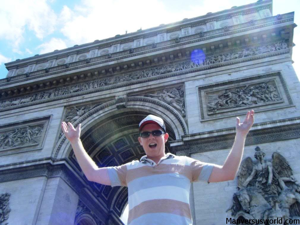 Me in front of the Arc de Triomphe, summer 2008