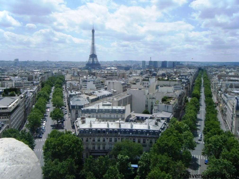 The view from the Arc de Triomphe, Paris
