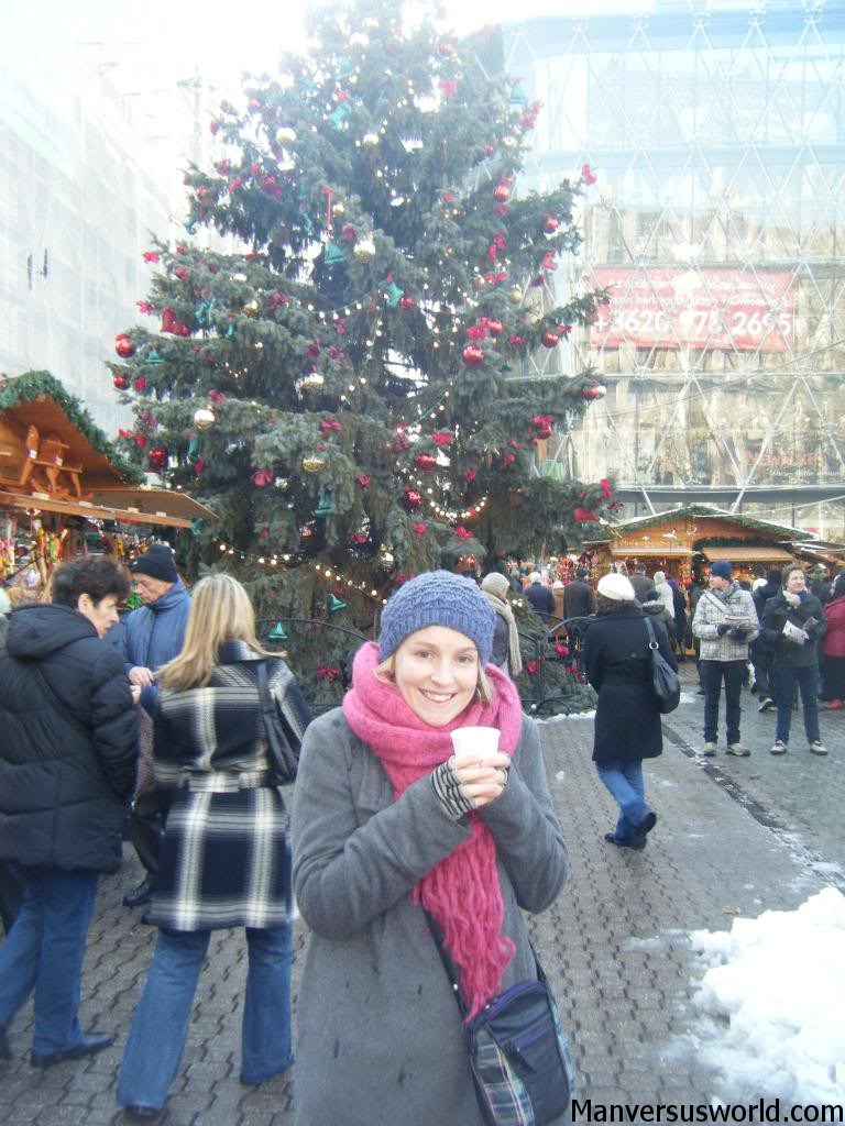 Nic at the Christmas market in Budapest, Hungary