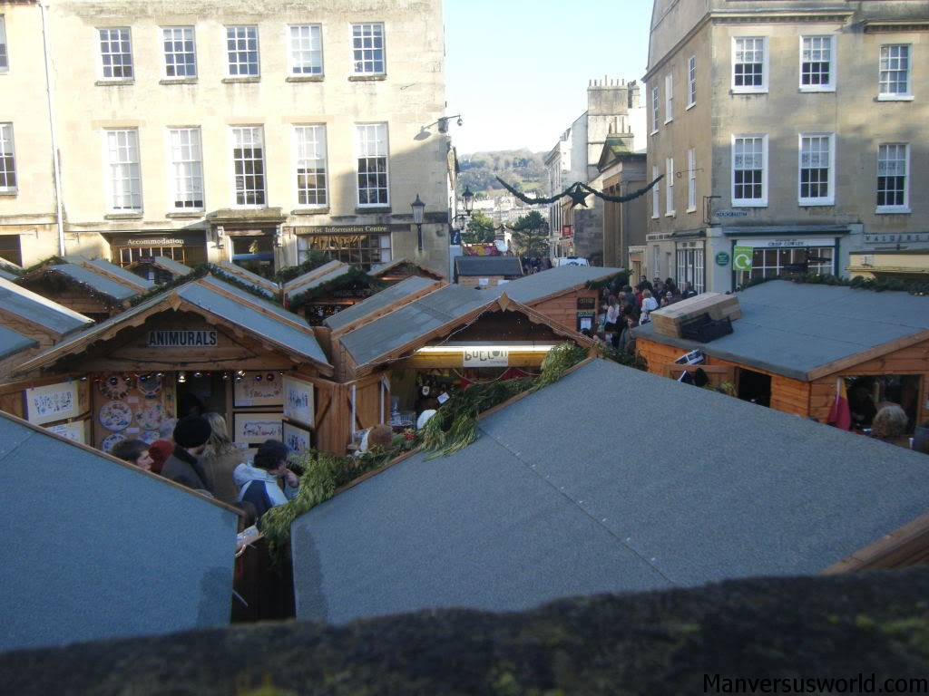 The Christmas markets in Bath, UK