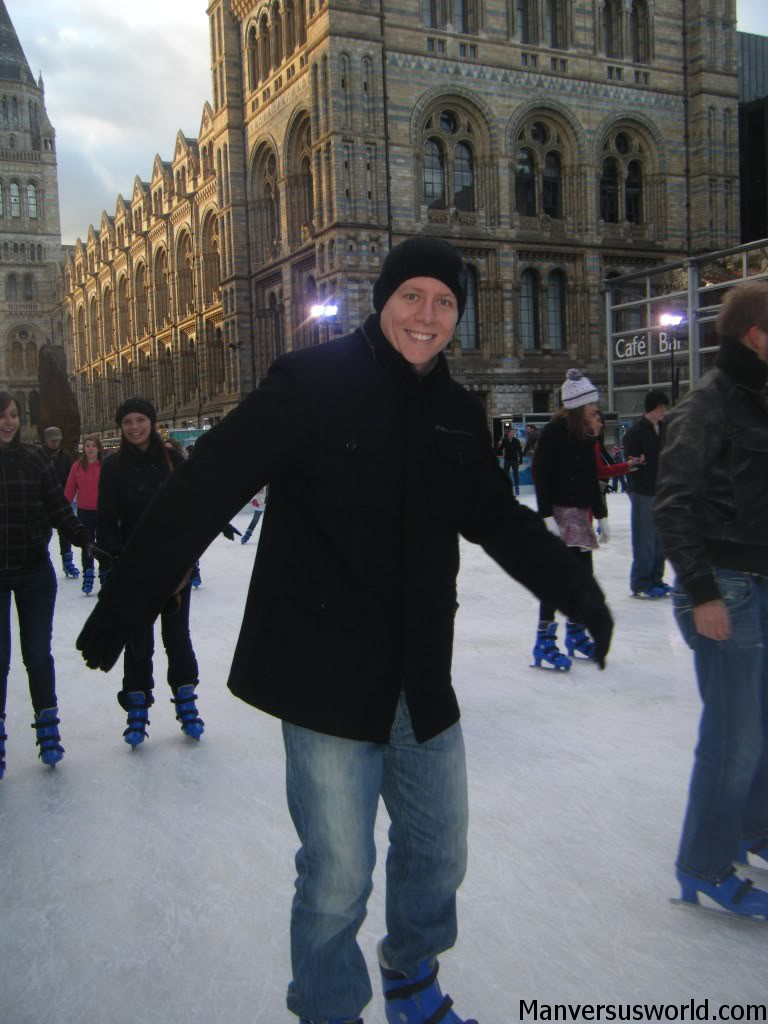 Me ice-skating in London