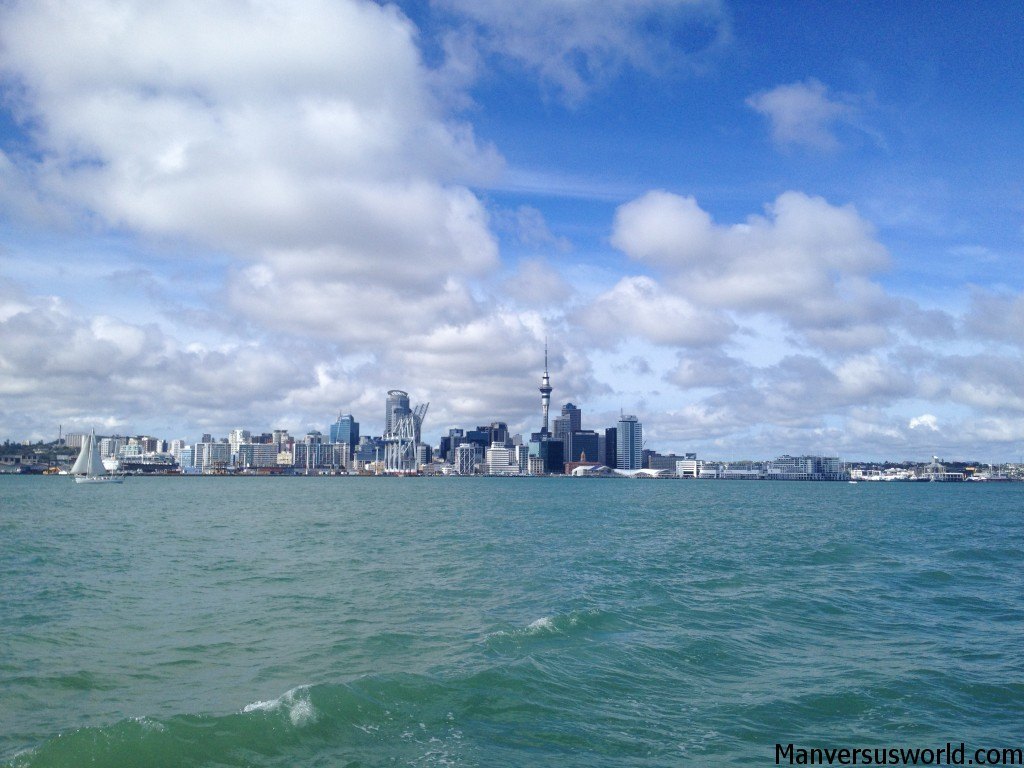 Auckland city from the Hauraki Gulf