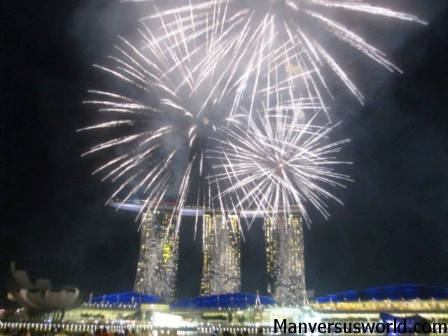 The Marina Bay Sands light show in Singapore