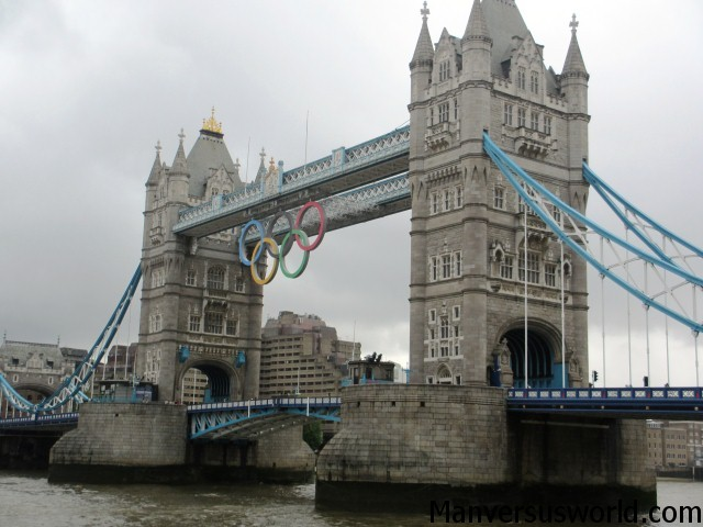 London's Tower Bridge during the Olympics in 2012
