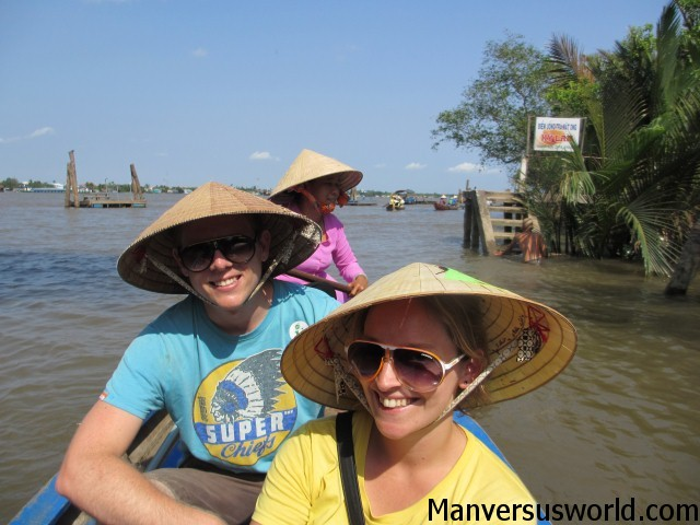 A boat ride on the Mekong River in Vietnam