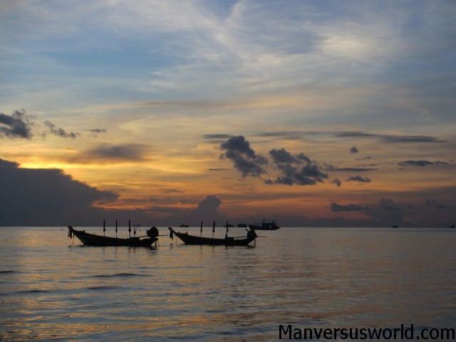 Another brilliant day as a traveller - sunset at Koh Tao, Thailand