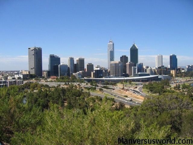 A view of the city of Perth, Australia