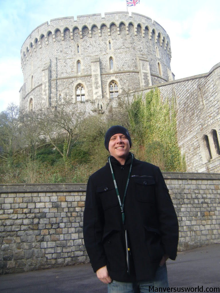 Me in Windsor, the seat of the home of the Queen of England