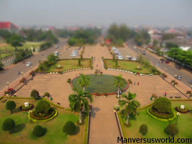 The view from Patuxai in Vientiane, Laos