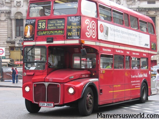 Cheap and cheerful London - the double decker bus.