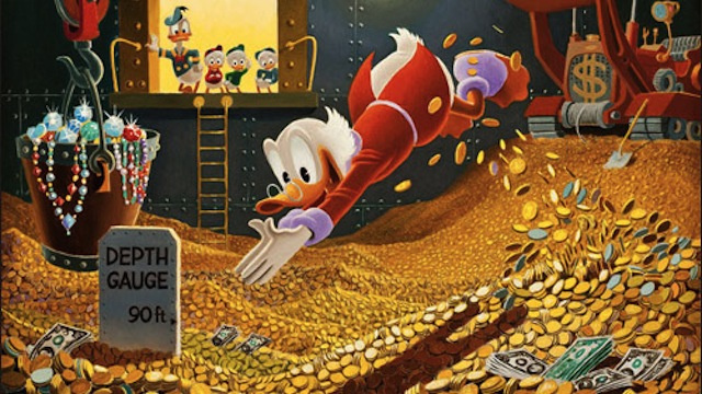 Scrooge McDuck knows how to save money for travel