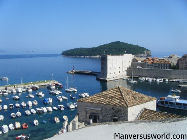 Dubrovnik's old port, Croatia