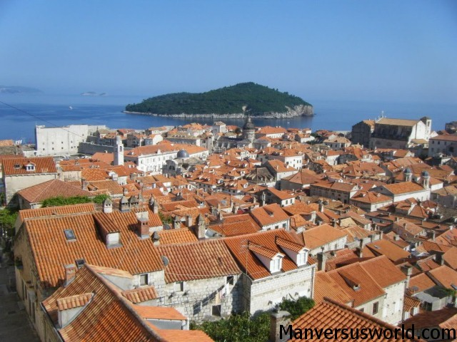 The view over Dubrovnik in Croatia