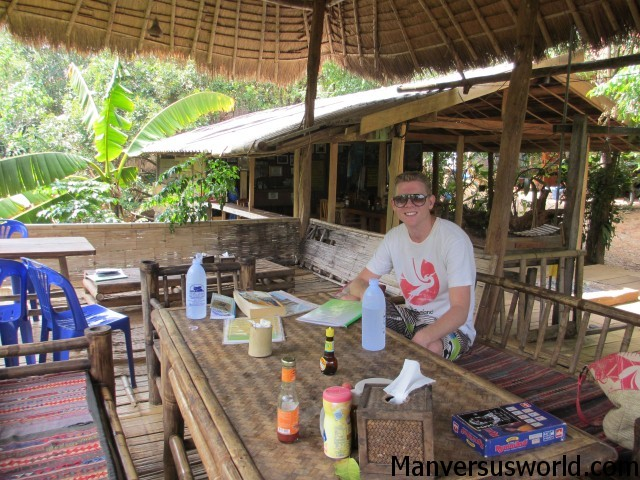The restaurant at Akha Hill House in Thailand