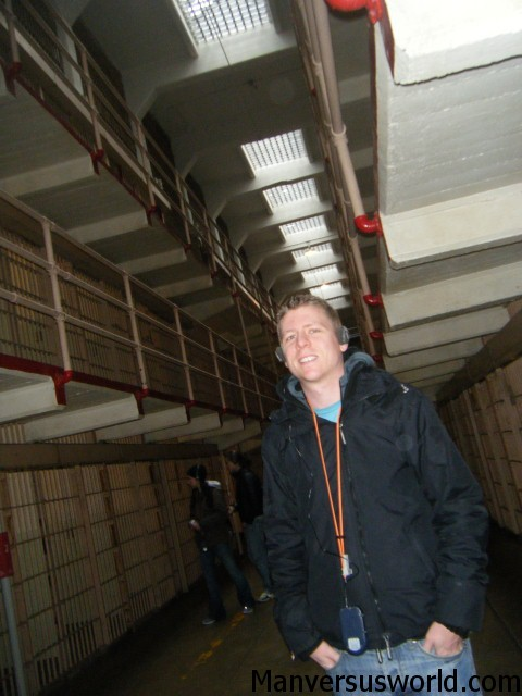 Inside the former prison that is Alcatraz