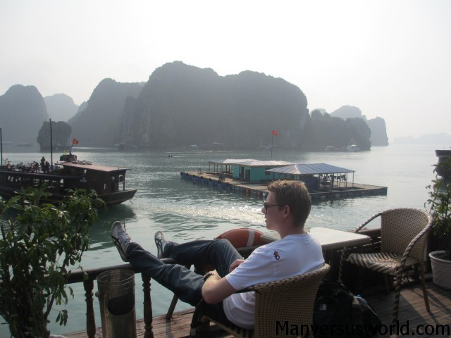 Just sitting and admiring the view of Halong Bay