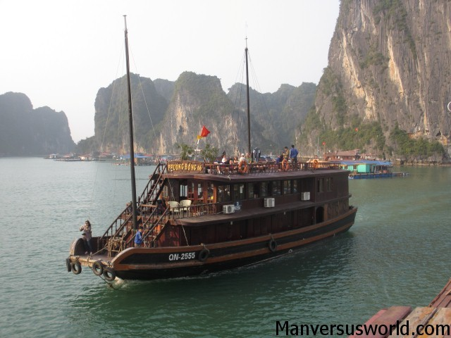 Our boat tour on Ha Long Bay