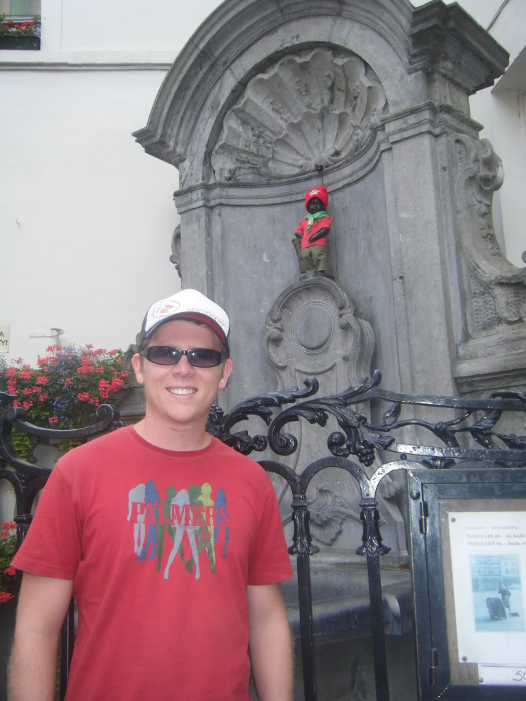 The Mannekin Pis in Brussels, Belgium