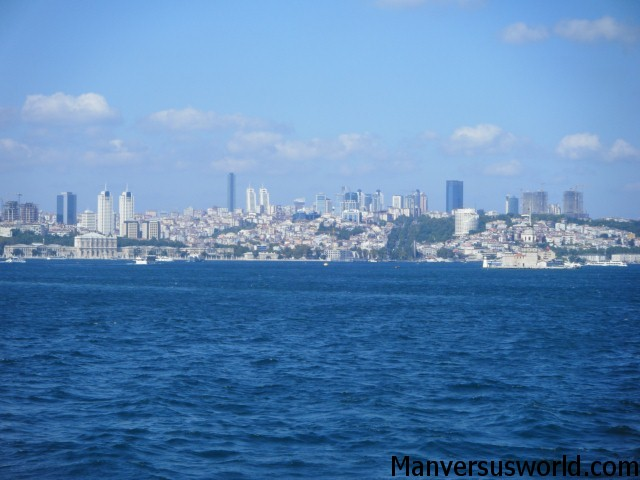 Istanbul city from across the Bosporus
