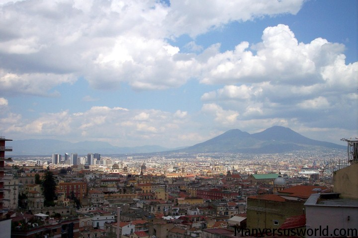 The view over Naples, Italy