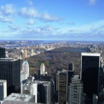 The view over Central Park in New York from the Rockefellar Center