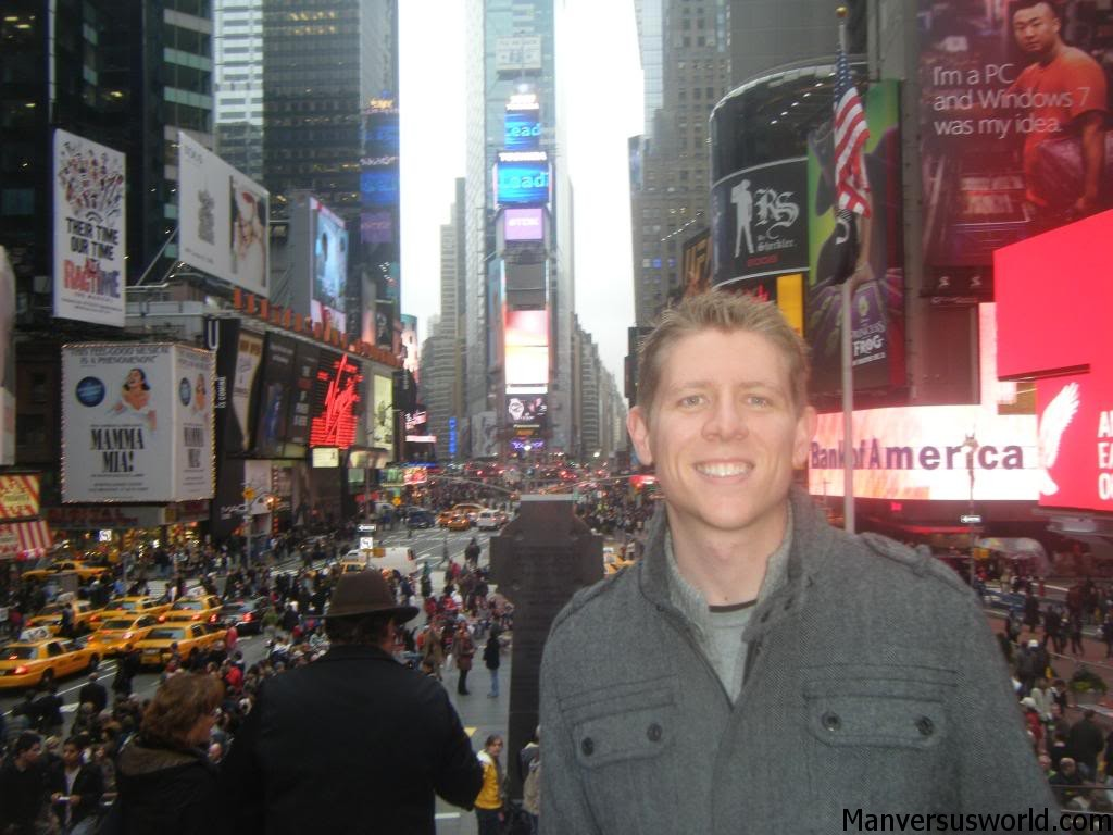 Me in Times Square, New York City