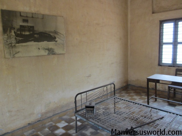 One of the torture chambers at S-21 in Phnom Penh