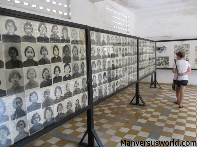 Mugshots of the S-21 victims, Tuol Sleng Genocide Museum