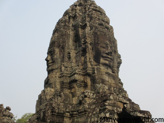 The amazing temple of Bayon in Cambodia