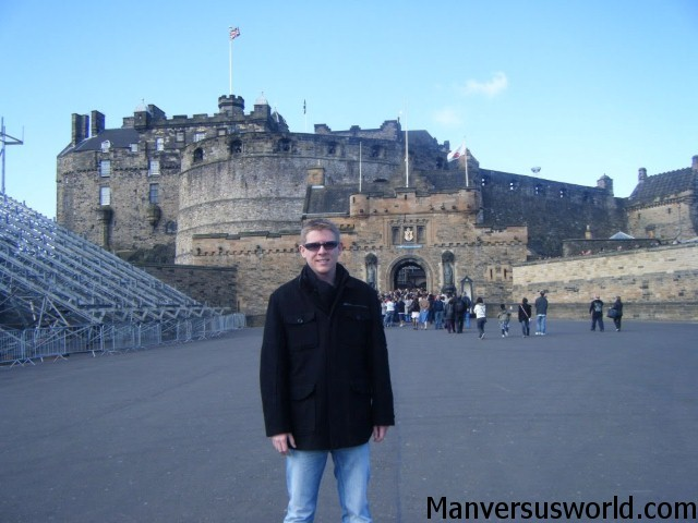 Me in Edinburgh, Scotland - next to the famous castle
