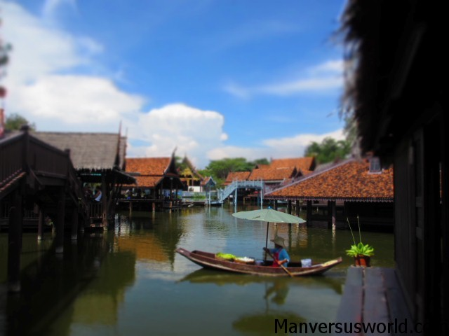 Floating market at Ancient Siam, Thailand