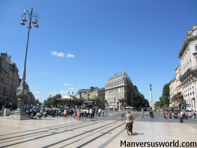 Bordeaux, France, in the summer sunshine