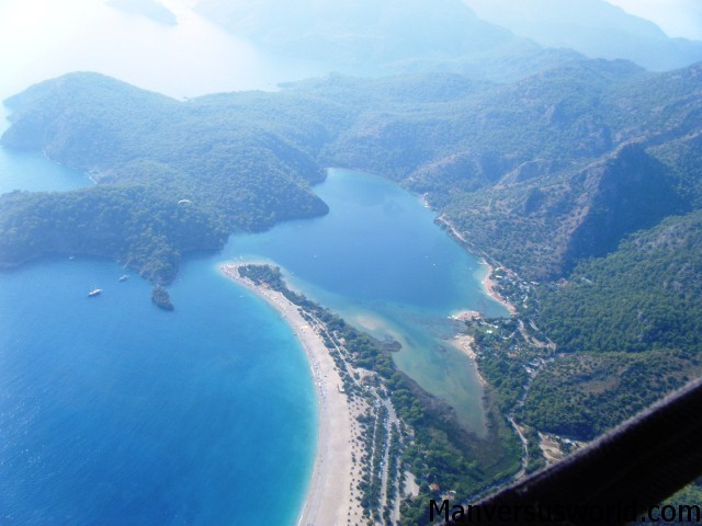 Oludeniz from the air in Turkey